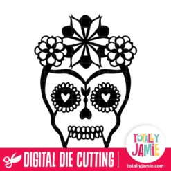 Halloween Sugar Skull 3 - SVG Cut Files