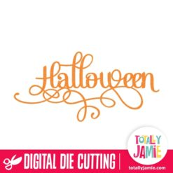 Halloween Title Fancy Word Art - SVG Cut Files