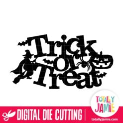 Halloween Trick Or Treat Title Decor - SVG Cut Files