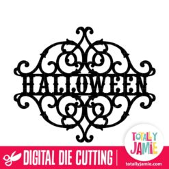 Halloween Vintage Wrought Iron Split - SVG Cut Files