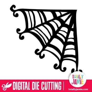 Halloween Whimsical Spider Web Corner