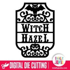 Halloween Witch Hazel Vintage Label Frame