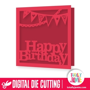 Happy Birthday Title Party Bunting Card