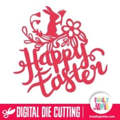 Happy Easter Garden - SVG Cut Files