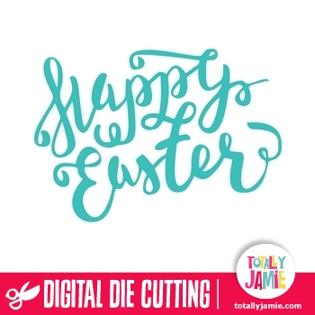 Happy Easter Lettering Phrase