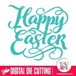 Happy Easter Title Lettering