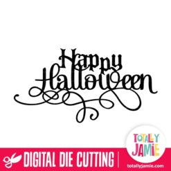 Happy Halloween Fancy Title - SVG Cut Files