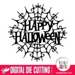 Happy Halloween Gothic Spider Web