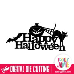 Happy Halloween Spooky Title Decor 2 - SVG Cut Files