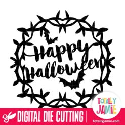 Happy Halloween Wreath - SVG Cut Files