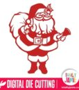 Happy Santa Claus Standing - SVG Cut Files