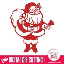 Happy Santa Claus Standing