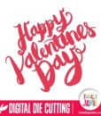 Happy Valentines Day Hand Lettering Brush Script