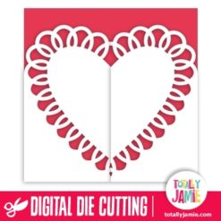 Heart Doily Gatefold Card 1