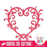 Heart Filigree - SVG Cut Files