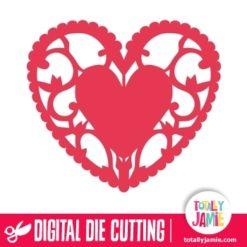 Heart Flourish Doily