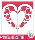 Heart Flourish Gatefold Card