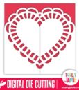 Heart Shape Doily Gatefold Card 2 - SVG Cut Files