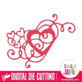 Heart Swirl Flourish 2 - SVG Cut Files