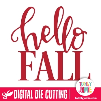 Hello Fall Title Lettering