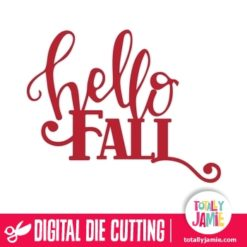 Hello Fall Title Lettering Swash