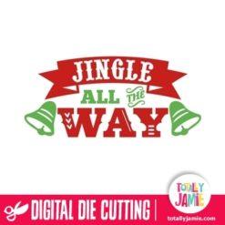 Jingle All The Way Word Art