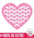 Lattice Highrise Pattern Heart