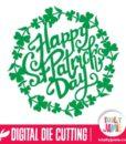Leafy Clover Happy St Patricks Day