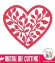 Leafy Heart - SVG Cut Files