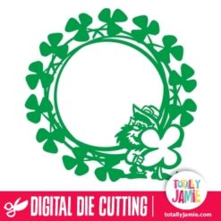 Leprechaun Shamrock Frame - SVG Cut Files