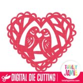 Love Birds Heart - SVG Cut Files