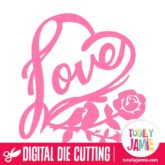 Love Birds Rose Heart - SVG Cut Files