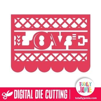 Love Block Title Mexican Paper Decoration