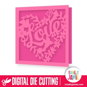 Love Heart Floral Nature Card