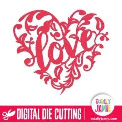 Love Heart Ornamental Flourish