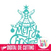 Merry Christmas Vintage Angel Title - SVG Cut Files