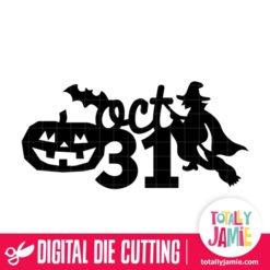 Oct 31 Title Halloween Decor - SVG Cut Files