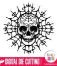 Ornate Halloween Skull Gothic Spider Web