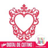 Ornate Heart Frame 2 - SVG Cut Files