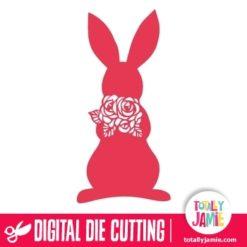 Rabbit Roses Cutout