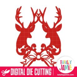 Reindeers Bow Decoration - SVG Cut Files