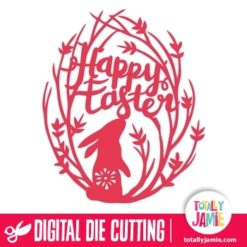Retro Folk Happy Easter Nature