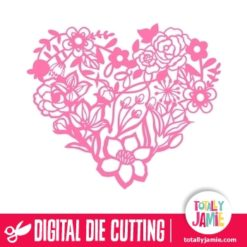 Romantic Floral Nature Heart - SVG Cut Files