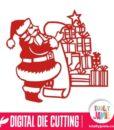 Santa Reading List Gifts Stack
