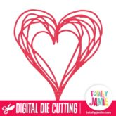 Scribbly Heart - SVG Cut Files