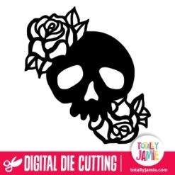 Skull Roses 2 - SVG Cut Files