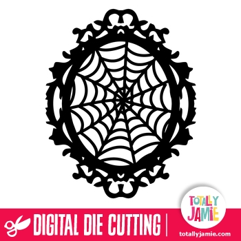 Spider Web Ornate Oval Frame