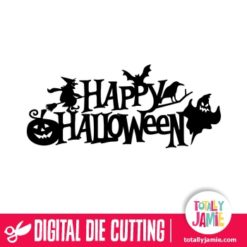 Spooky Happy Halloween Title Decor