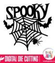 Spooky Title Spider Web Bats Decor