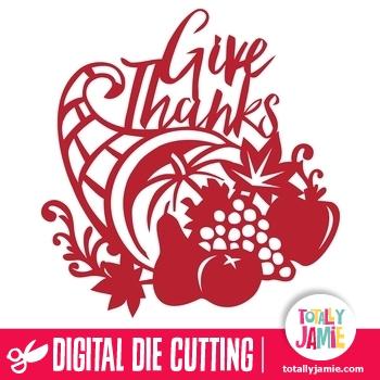 Thanksgiving Cornucopia Give Thanks Phrase